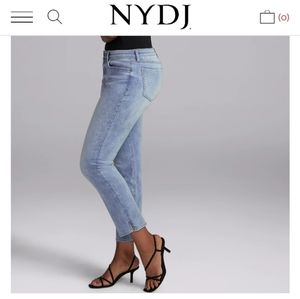 NYDJ slim straight ankle jeans 28S.